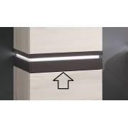 Sanipa Plattenmodul mit LED PM1102E, Patina-Bronze 85x352x350, PM1102E PM1102E