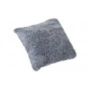 Lockig fårskinnskudde - silvergrå