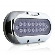 OceanLed Luce subacquea a 16 LED - Cornice acciaio inox