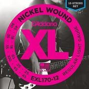 D'Addario EXL170-12 Nickel Wound Bass Guitar Strings Light 18-45