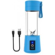pinaaki SDD BEST PERFORMANCE Portable Electric Fruit Juicer Maker/Blender USB Rechargeable for the Kitchen, Gym, Yoga Class, Hiking, Camping, Office, Travelling, Outdoor Sports 300 Juicer Mixer Grinder (BLUE) 300 Juicer Mixer Grinder(Blue, 1 Jar)