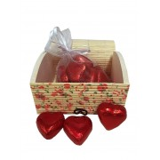 Baúl con bombones de chocolate