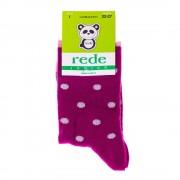 Детски чорапи Rede Junior лилави с точки