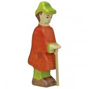 Fa betlehemi figurák - juhász bottal
