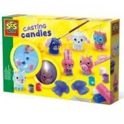 Детски комплект направи си сам свещи с брокат SES, 0814711