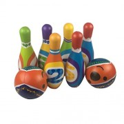 TOYMYTOY Bowling Ball Set Outdoor Indoor Bowling Pins Game with 2 Balls for Children Kids