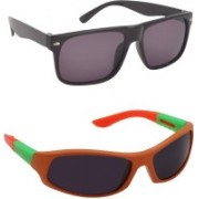 Yellow Mango Rectangular, Wayfarer Sunglasses(For Boys & Girls)