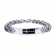 Bracelet Personalidad De La Moda Las Pulsera Swarovski Elementss Brazaletes Cruzadas Hombres Blanco