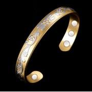 RS Bracelet magnétique en cuivre avec aimants Verbenia