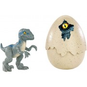 Fisher Price Jurassic World Dinozaur w Jajku FMB91 - Velociraptor Blue