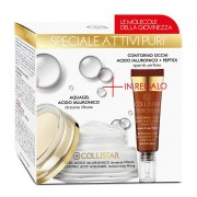 Collistar Kit Attivi Puri Aquagel Acido Ialuronico 50 ml IN REGALO Contorno Occhi Acido Ialuronico Peptidi 7,5 ml