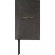 "Smythson Panama Notebook Black ""Travel and Experiences"""