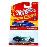 HOT WHEELS 2005 5 of 30 green 1958 CORVETTE CLASSICS SERIES 2 1:64 SCALE DIE-CAST BODY/CHASSIS SPECIAL PAINT