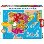 EDUCA Puzzle Educativo EDUCA 150 Piezas, Provincias De España