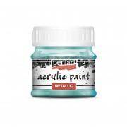 Pentart Metál türkiz színű akril bázisú hobbi festék 50 ml