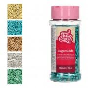 Cake Supplies Sprinkles de palitos metalizados XL de 250 g - FunCakes - Color Azul