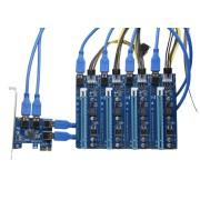 Mining Riser hub 1x PCI-E naar 4x PCI-E