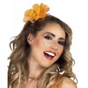 Merkloos Haarspeld met oranje bloem