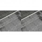 vidaXL 2 db lineáris rozsdamentes acél zuhany lefolyó 1030 x 140 mm