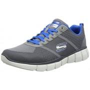 Skechers Men's Equalizer 2.0- True Balance Grey and Blue Nordic Walking Shoes - 9 UK/India (43 EU)(10 US)