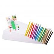 Merkloos Kleurpakket met potloden en puntenslijper
