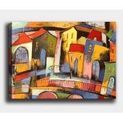 Tablo Center Obraz Village 50x70 cm