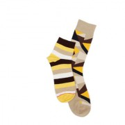 Soxytoes Multi-Coloured Cotton Ankle Length Pack of 2 Pairs Unisex Casual Socks (SOSN0118)