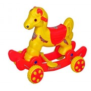 pihu enterprises Musical baby Horse Rider Yellow & Red (Turbo)