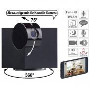 7links WiFi-IP-Überwachungskamera, Full HD, App, Pan/Tilt, für Echo Show