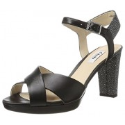 Clarks Women's Kendra Petal Black Leather Fashion Sandals - 5 UK/India (38 EU)
