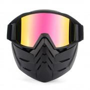 Masca Moto + Ochelari Moto Detasabili pentru castile Open Face cod15