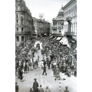 Bucuresti, 1930, Calea Victoriei duminica, poster 595 x 420 mm