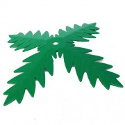 Lego Parts: Adventurers River Expedition Palm Plant Tree Leaf 4 Blades (Service Pack 30339 - Green)