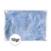 Geen 10 gram blauwe decoratie dons veren