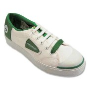 Dunlop Green Flash Canvas Trainers (Laced) - White/Green - EU 45 / UK 10