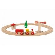 Set tren si sina circulata din lemn Eichhorn 135 cm