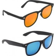 Zyaden Rectangular, Wayfarer Sunglasses(Multicolor, Blue)