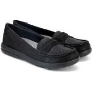 Clarks Jocolin Maye Black Synthetic Loafers For Women(Black)