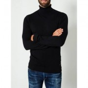 Petrol Knitwear Collar Black