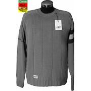 Elle Creazioni Round Neck Rib Stitch Sweater Green/Red/Brown/Yellow