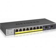 Суич Netgear GS110TP v3, 8 x 10/100/1000 Gigabit Smart switch, 8 x PoE and 2 SFP, auto VoIP and Video, ACL (Up to 53W), GS110TP-300EUS