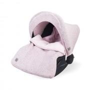 Sac de dormit tricotat roz Confetti pentru scaun auto si carucior
