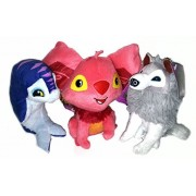 Animal Jam Rust Koala, Artic Wolf and Blue Dolphin Set of 3 National Geographic Online Game Plush Toy Characters