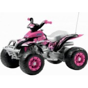 ATV Electric Copii Peg Perego Corral T-Rex 12V Pink