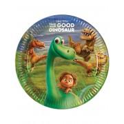 Vegaoo 8 kartongtallrikar från Den gode dinosaurien One-size