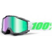 100% Accuri Extra Gafas de Motocross Negro Blanco Verde un tamaño