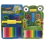 KriToy Non-Toxic Modelling Clay kids learning kit (Combo Pack) of (12 Colors) with Roller & 4 Moulds +(12 Colors) with Velan & 3 Moulds Modeling Clay