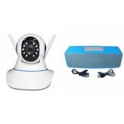 Zemini Wifi CCTV Camera and Box-2 Bluetooth Speaker for LENOVO a328(Wifi CCTV Camera with night vision |Box-2 Bluetooth Speaker)