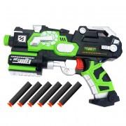Pistol testoasele Ninja verde, cu gloante de burete
