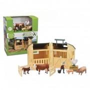 Set de Joaca Hambar cu figurine fermier si animale Collecta, 3 ani+